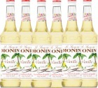 6 x Sirop Monin - vanille (french vanilla)- 70cl