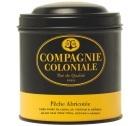 Boite Compagnie Coloniale Th� noir P�che Abricot�e - 100 gr
