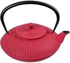 Théière en fonte Stria rouge 1.15L - Fonte de Chine