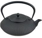 Théière en fonte Stria noire 1.15L - Fonte de Chine