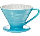 Dripper Tiamo V02 conique bleu 4 tasses