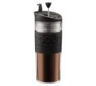 TRAVEL PRESS Bodum Couvercle à piston noir, double paroi plastique , 45 cl