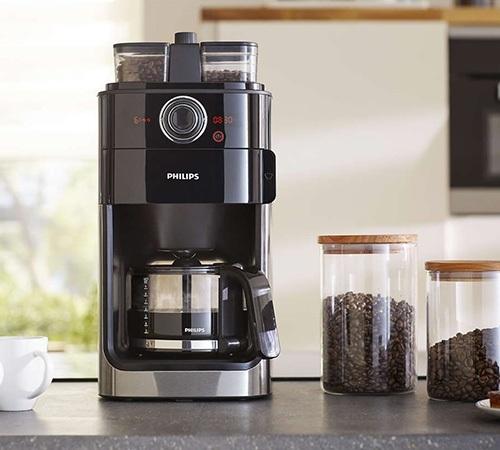 Cafeti re filtre avec broyeur philips hd7766 00 caf - Machine a cafe philips avec broyeur ...
