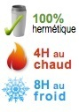 mug isotherme 100% hermetique 4H chaud 8H froid