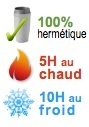 mug isotherme hermetique 5H chaud 10H froid