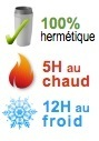 mug isotherme hermetique 5H chaud 12H froid