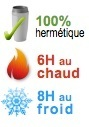 mug isotherme hermetique 6H chaud 8H froid