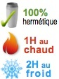 mug isotherme hermetique 1H chaud 2H froid