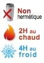 mug isotherme non hermetique 2H chaud 4H froid