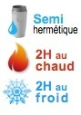 mug isotherme semi hermetique 2H chaud 2H froid