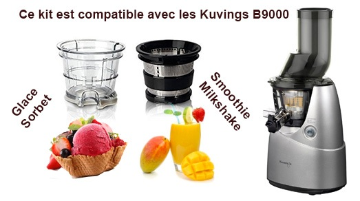 kit smoothie glace pour kuvings b9400