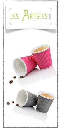 coffret tasses à café porcelaine 10 cl les artistes paris