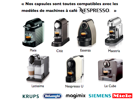 Capsul 39 in x 100 capsule compatible nespresso - Difference krups et magimix ...