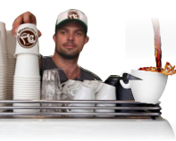 Serveur de coffee-shop