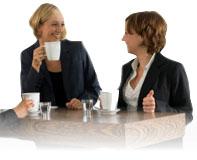 Pause caf� au bureau
