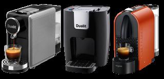 machines dualit et nespresso