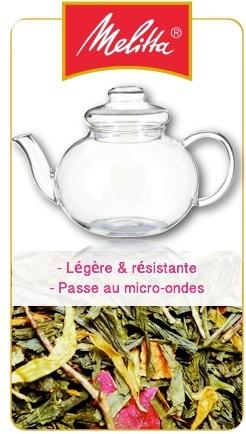 Théière en verre borosilicate 1L - Melitta