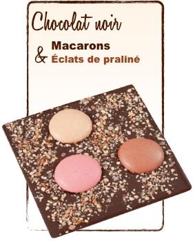tablette chocolat macarons praliné monbana