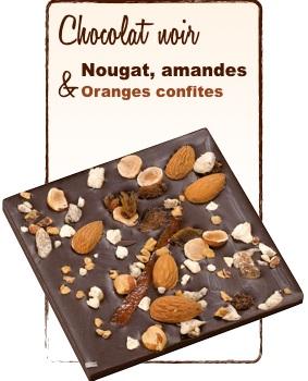 tablette chocolat nougat amandes noisettes et figues monbana