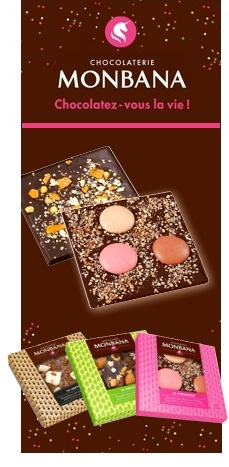 Tablette gourmande - Cranberry Chocolat Noir - 80 gr - Monbana
