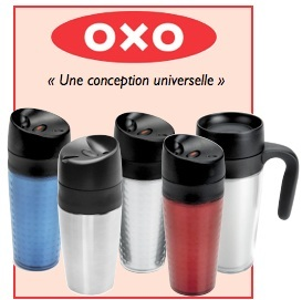 mug double paroi inox 40cl oxo. Black Bedroom Furniture Sets. Home Design Ideas