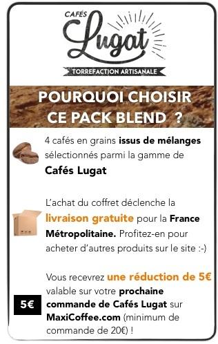 café en grains lugat pour machine expresso automatique ou manuelle