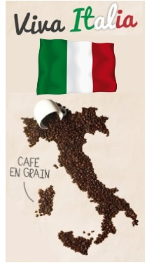 pack italien café grains