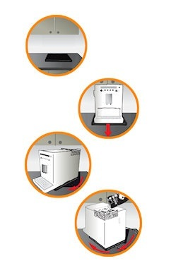 un plateau pour machine à café automatique Melitta, Jura, Krups et Delonghi