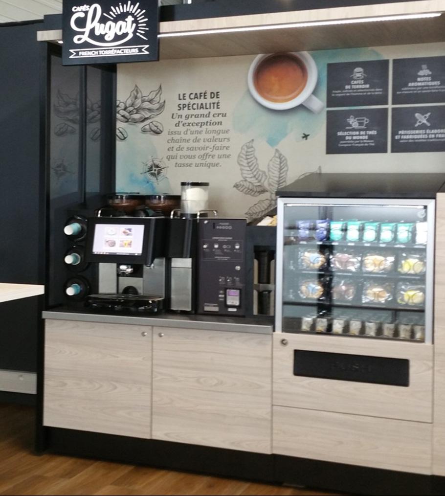 corner libre-service Cafés Lugat, French Torréfacteurs