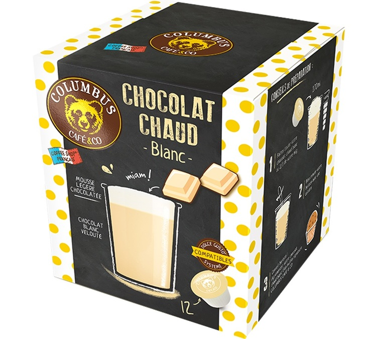 Columbus Café Co White Hot Chocolate Capsules For Dolce