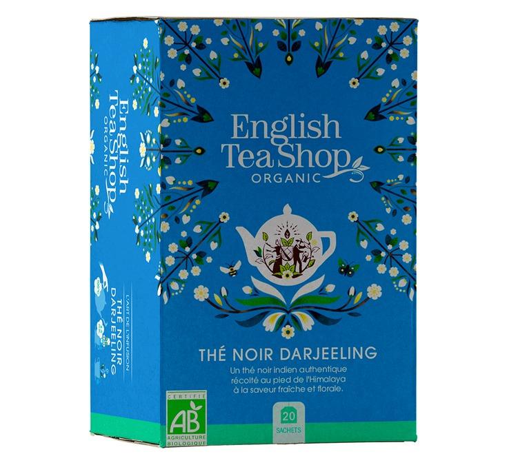 20 sachets thé noir Darjeeling bio - English Tea Shop