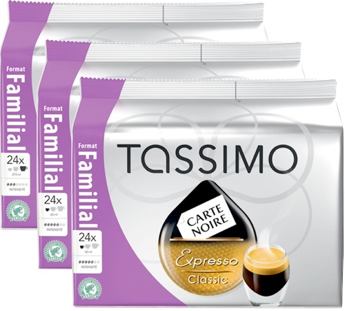 capsule tassimo carte noire expresso classic 72 t discs. Black Bedroom Furniture Sets. Home Design Ideas