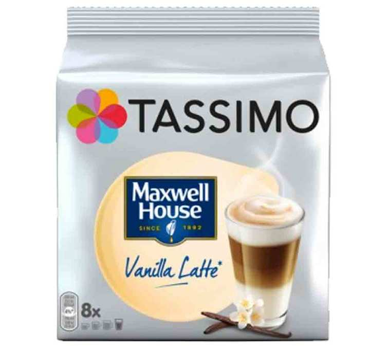 8 Maxwell House Vanilla Latte T Discs for Tassimo machines