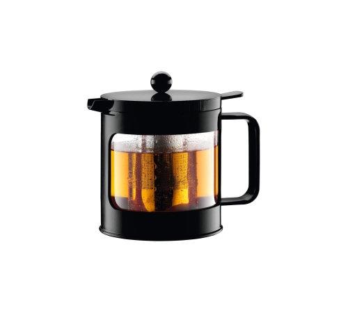 th i re piston bean tea press 1l noire bodum. Black Bedroom Furniture Sets. Home Design Ideas