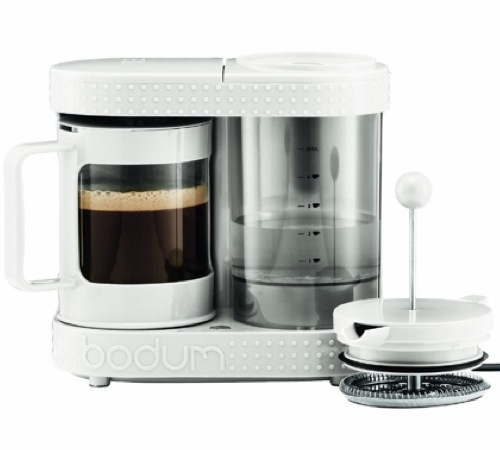 Cafeti re piston lectrique 4 tasses 0 5l blanche - Utilisation cafetiere a piston ...