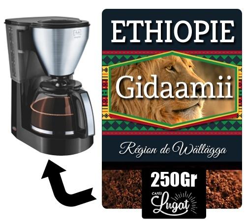 250gr caf moulu pour filtre gidaamii caf s lugat. Black Bedroom Furniture Sets. Home Design Ideas