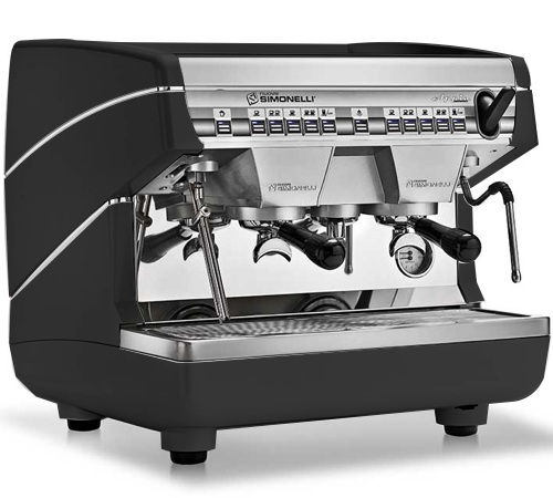 machine nuova simonelli appia ii compact 2 groupe noire. Black Bedroom Furniture Sets. Home Design Ideas