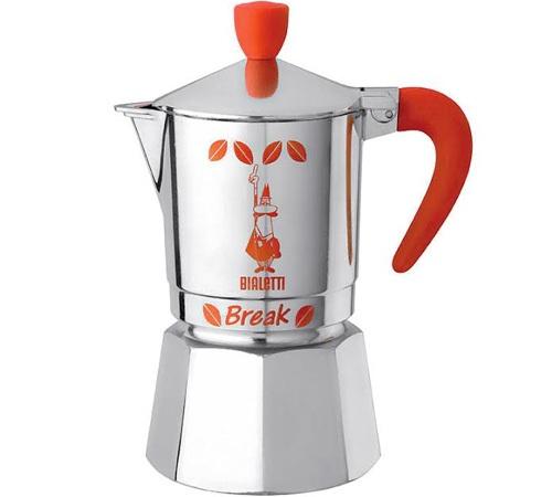 Cafeti re italienne bialetti break orange 3 tasses - Comment fonctionne cafetiere italienne ...