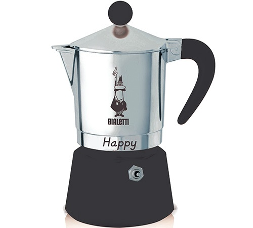 Cafeti re italienne bialetti happy noire 6 tasses - Comment fonctionne cafetiere italienne ...