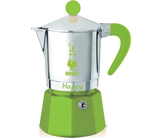 Cafeti re italienne bialetti happy verte 3 tasses - Comment utiliser une cafetiere italienne ...