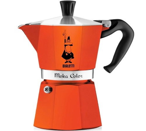 Cafeti re italienne bialetti moka express orange - Comment fonctionne cafetiere italienne ...