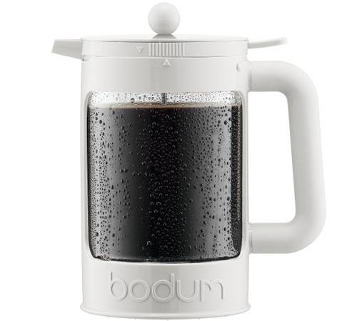 cafeti re bodum bean cold brew blanche pour caf glac 150cl. Black Bedroom Furniture Sets. Home Design Ideas