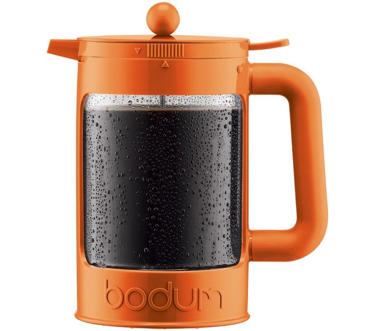 cafeti re piston bodum bean cold brew color orange pour. Black Bedroom Furniture Sets. Home Design Ideas