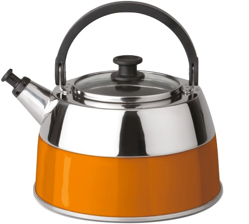 bouilloire manuelle en inox orange berghoff virgo 2 5l. Black Bedroom Furniture Sets. Home Design Ideas