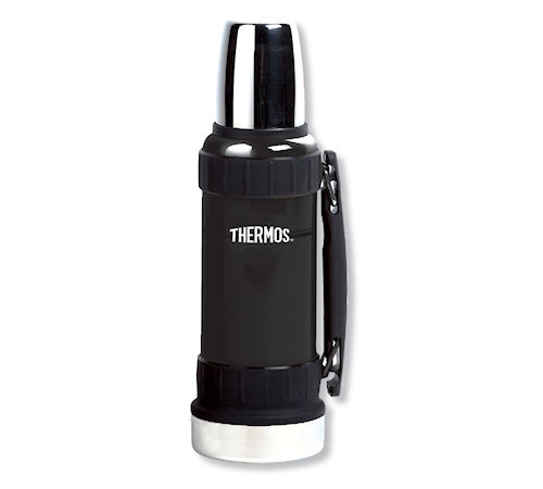 bouteille isotherme thermos noir thermax avec poign e 1 2 l. Black Bedroom Furniture Sets. Home Design Ideas