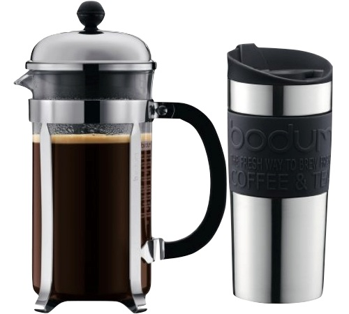 Cafeti re piston bodum chambord 1l travel mug 35 cl - Cafetiere a piston avis ...