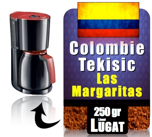 caf moulu pour cafeti re filtre colombie tekisic plantation las margaritas 100. Black Bedroom Furniture Sets. Home Design Ideas