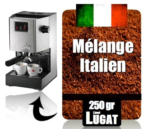 caf moulu pour machine expresso m lange italien. Black Bedroom Furniture Sets. Home Design Ideas