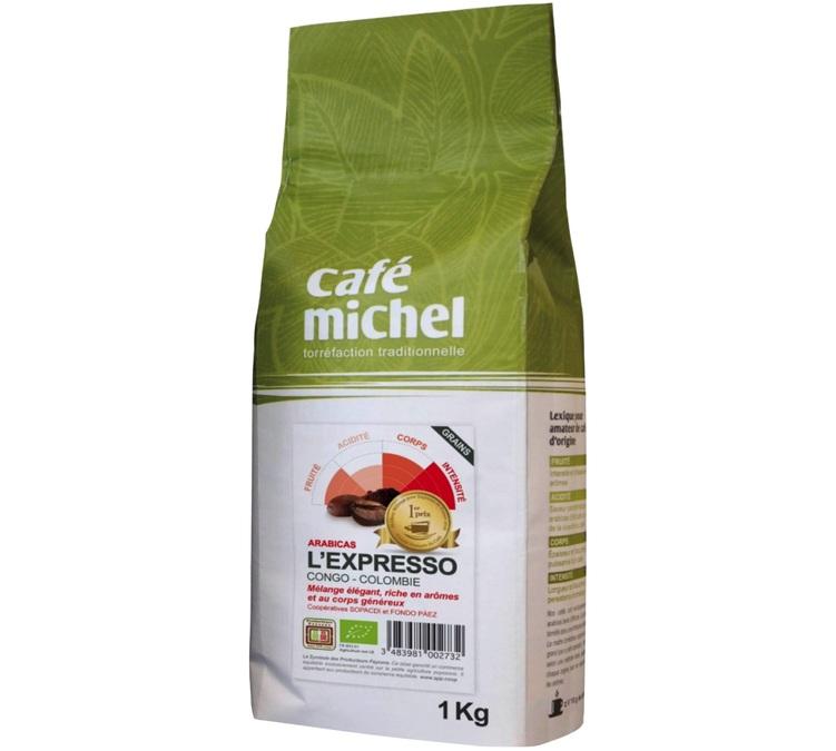 Meilleur m lange pour expresso bio 2016 1kg caf michel - Meilleur cafe en grain ...