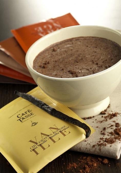 20 sachets chocolat en poudre cacao intense caf tasse. Black Bedroom Furniture Sets. Home Design Ideas